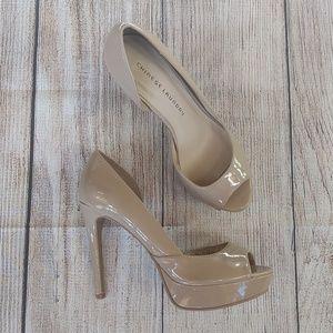 Chinese Laundry Nude Stiletto Platform Heels 8.5